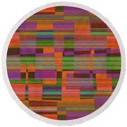 1365 Abstract Thought Round Beach Towel