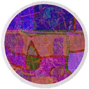1381 Abstract Thought Round Beach Towel