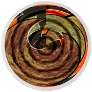1396 Abstract Thought Round Beach Towel