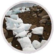 Antarctica Round Beach Towel