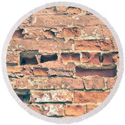 Brick Wall Round Beach Towel