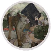 Jungle Book, 1903 Round Beach Towel