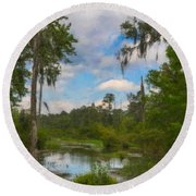 Lowcountry Marsh Round Beach Towel