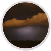 Nebraska Roll Cloud A Cometh Round Beach Towel