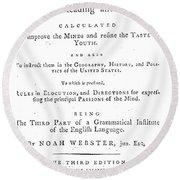 Noah Webster (1758-1843) Round Beach Towel