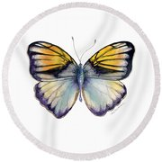 14 Pieridae Butterfly Round Beach Towel