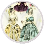 Women's Fashion, 1842 Round Beach Towel