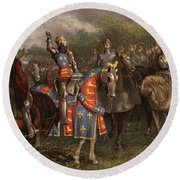 1400s Henry V Of England Speaking Round Beach Towel