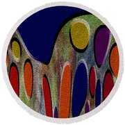 1404 Abstract Thought Round Beach Towel