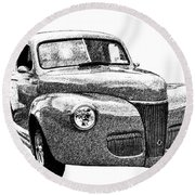 1941 Ford Coupe Round Beach Towel
