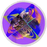 1422 Abstract Thought Round Beach Towel