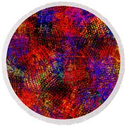 1432 Abstract Thought Round Beach Towel
