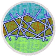1455 Abstract Thought Round Beach Towel