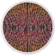 1458 Abstract Thought Round Beach Towel