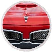 1967 Pontiac Gto Grille Emblem Round Beach Towel