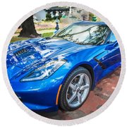 2014 Chevrolet Corvette C7 Round Beach Towel