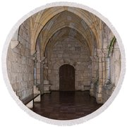 Ancient Spanish Monastery Round Beach Towel