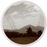 Blue Ridge Mountains - Virginia Sepia 10 Round Beach Towel