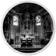 Church Of Saint Agnes Round Beach Towel