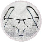Eyeglasses Round Beach Towel