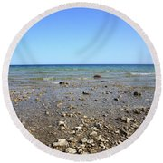 Lake Huron Round Beach Towel by Frank Romeo