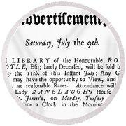 Robert Boyle (1627-1691) Round Beach Towel
