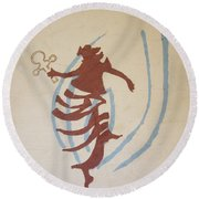 The Wise Virgin Round Beach Towel