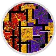 1517 Abstract Thought Round Beach Towel