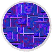 1527 Abstract Thought Round Beach Towel