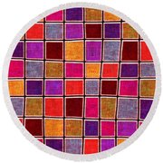1535 Abstract Thought Round Beach Towel
