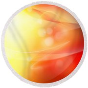 Abstract Background. Round Beach Towel