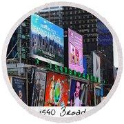 1540 Broadway Round Beach Towel