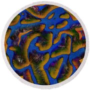 1541 Abstract Thought Round Beach Towel