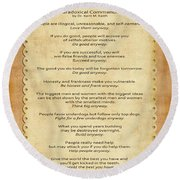 159- The Paradoxical Commandments Round Beach Towel