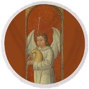 15th Century Angel Painting 6 Round Beach Towel