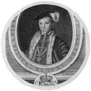 Edward Vi (1537-1553) Round Beach Towel