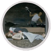 16. Jesus Is Buried / From The Passion Of Christ - A Gay Vision Round Beach Towel