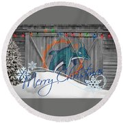 Miami Dolphins Round Beach Towel