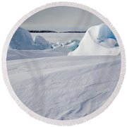 Pack Ice, Antarctica Round Beach Towel