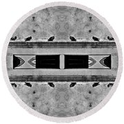 16 Pigeons On A Pharaoh's Tomb Round Beach Towel