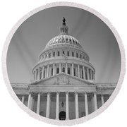 Us Capitol Building Round Beach Towel