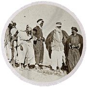 Wwi Refugees, 1919 Round Beach Towel
