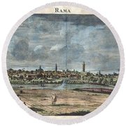 1698 De Bruijin View Of Rama Israel Palestine Holy Land Round Beach Towel