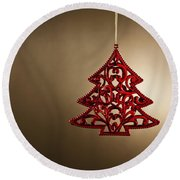 Christmas Tree Ornament  Round Beach Towel