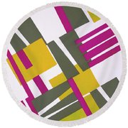 Design From Nouvelles Compositions Decoratives Round Beach Towel