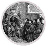 Henry Viii (1491-1547) Round Beach Towel