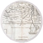1730 Toms Map Of Central Africa Round Beach Towel