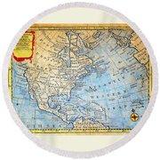 1747 Bowen Map Of North America Geographicus Northamerica Bowen 1747 Round Beach Towel