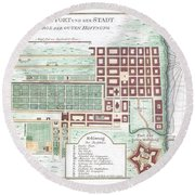 1750 Bellin Map Of Cape Town South Africa Round Beach Towel