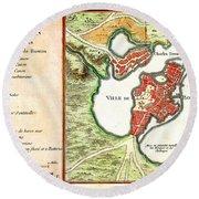 1756 Bellin Map Of Boston Massachusetts Geographicus Boston2 Bellin 1756 Round Beach Towel